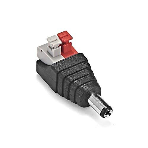 Guadang 5V 12V 24V 250V 10A Conector de alimentación DC 5.5 x 2.1mm Conectores de adaptador de enchufe de gato masculino femenino para la cámara CCTV de la luz de la tira LED