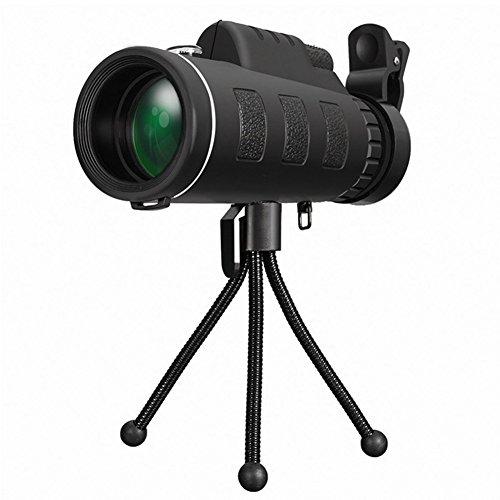 iKulilky Monocular Telescopio, 40x 60Zoom HD Teléfono Móvil Clip-on de lente de cámara con brújula Outdoor Cámara telescópica