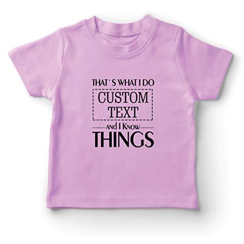 lepni.me Camiseta para Niño/Niña Costumbre Eso es lo Que Hago Personalizada y sé Cosas (12-13 Years Rosado Multicolor)