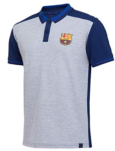 FC Barcelona - Polo Barca - Colección oficial para hombre, Hombre, gris, medium