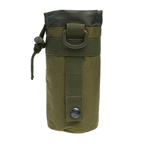 MagiDeal Outdoor Sport Nylon Molle Trinkflasche Halter Wasserflasche Tasche Aufbewahrungstasche - Grün