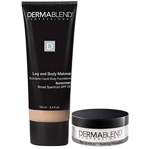 Dermablend Leg and Body Makeup Foundation with SPF 25, 10N Fair Ivory, 3.4 Fl oz + Free Gift with Purchase