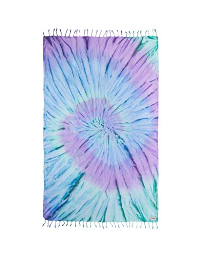 Sand Cloud Turkish Towel - Peshtemal Cotton - Great for Home or Beach or as a Blanket - Tie-Dye - As Seen on Shark Tank (Luna)