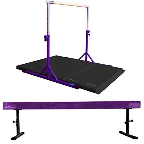 Z ATHLETIC Expandable Kip Bar for Gymnastics, 4ft x 6ft x 2in Mat,  Arizona