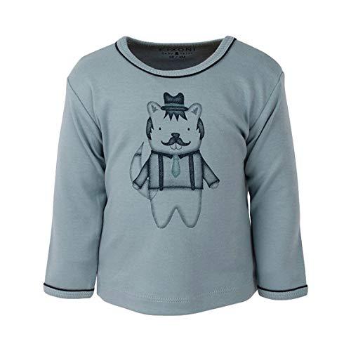 Fixoni T-shirt à manches longues renard top bébé vêtements bébé, bleu