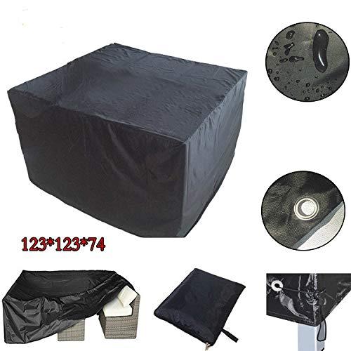 BASA Jardín Fundas para Muebles,mesas de jardín al Aire Libre Muebles de jardín Cubren Sencilla Agua y al Polvo protección (Negro)