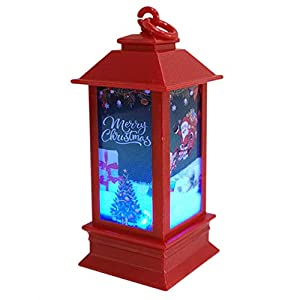 Shan-S Christmas Night Light,Christmas Atmosphere Decorative Props Plastic Glowing Lighthouse Night Lights House for Patio, Garden, Gate, Yard, Home Bar,Christmas Decoration Xmas