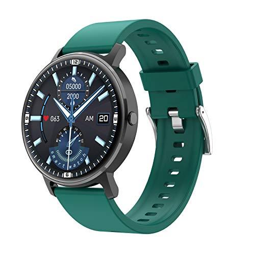 ZYY LG16 Bluetooth Call Music SmartWatch Music Play Detección de Ritmo cardíaco IP67 Reloj Impermeable para Android iOS Reloj Deportivo,B