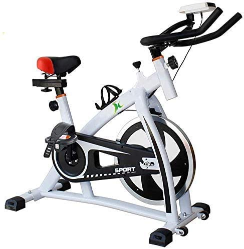 LYQ Professional Indoor Cycling Exercise Bike Exercise Bike CyclingReads Speed Time etc, Electromagnetic Spinning Bike with Non-Slip Pedal Maximum Load Capacity 160KG for Home
