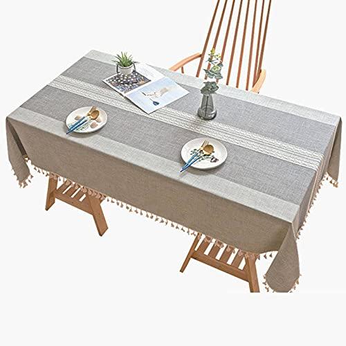 Mantel Rectangular Elegante Cubierta De Mesa para Cocina Comedor Decoración De Mesa Rectángulo Gris Oblongo 55 X 86 En-140X180cm-gris