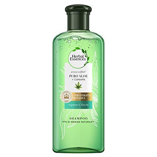 Herbal Essences Shampoo Senza Solfati Con Puro Aloe + Canapa, In Collaborazione Con I Giardini Botanici Reali Di Kew, 225ml