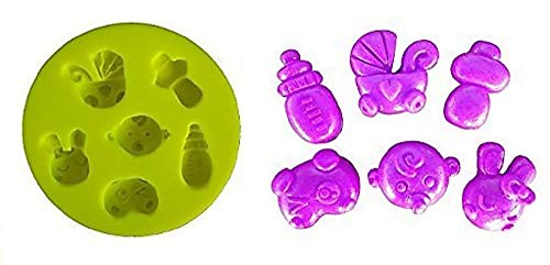 Siliconen mal voor artisanaal gebruik van gestileerde katten - babyfles - babygezicht - kinderwagen - babyfles - panda van lage dikte