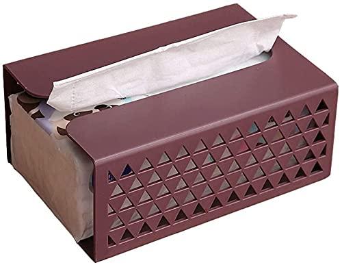 Soporte de la caja de la caja de pañuelos Soporte de la caja de tejido de pared, gabinete de la cocina Toalla de papel, cuarto de baño Caja de servilleta de almacenamiento multifuncional para el hogar