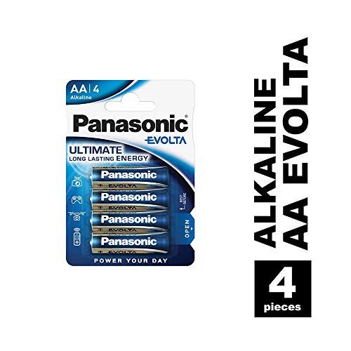 Panasonic Evolta Alkali-Batterie, AA Mignon, 4er Pack, für energieintensive Produkte, Alkaline