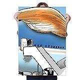 DIYthinker America President Frog Great Image Sticker Decoration Poster Playbill Wallpaper Window Decal