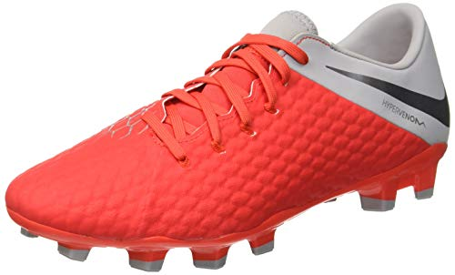 Nike Hypervenom Phantom III Academy FG, Zapatillas de Fútbol para Hombre, Rojo (Rot/Gr Rot/Gr), 44 EU