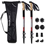 Trekology Walking Trekking Poles 2pc/set - Lightweight Collapsible Adjustable Aluminum Telescopic Hiking Pole