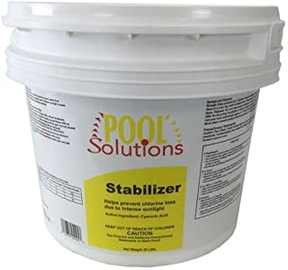 BLOSSOMZ Pool Solutions Swimming Pool 25Lb Chlorine Stabilizer Cyanuric Acid   P17025DE