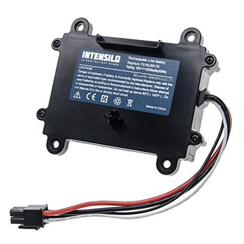 INTENSILO Akku kompatibel mit Bosch Indego 350, 400, M+ 700, M 700, S+ 350, S+ 400 (2500mAh, 18V, Li-Ion)