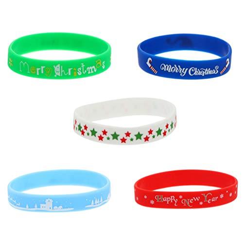 Abaodam 5 pulseras de silicona elásticas decorativas unisex para niños y adultos, accesorios deportivos de moda, varios colores