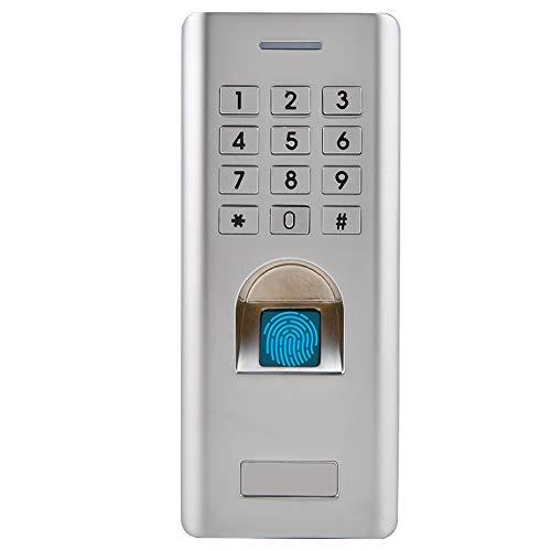 Fingerabdruck Zugangskontrolle, Metall Fingerprint Codeschloss Zutrittskontrolle, intelligent Zugangssystem Türöffner für Home Sicherheit (#1)