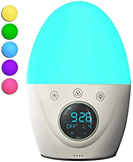 Wake Up Light Alarm Clock for Kids, FiveHome Color Changing Children Night Light & Sleep Training Alarm Clock