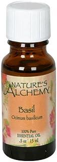 Nature's Alchemy Essential Oil, Basil (Ocimum Basilicum), 0.5 oz (15 ml), (Pack of 2)