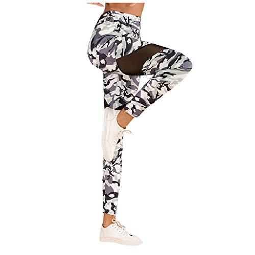 Feytuo Yoga Damen Sporthose Skinny Lang Bekleidung Sexy Hose Eng Damen Yoga Polyester Leggings Schwarz Grau Pants Lässige Plissierte Hüft-Yoga-Hose Mit Taschensteppung Für Dame