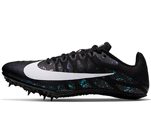 Nike Zoom Rival S9 Track & Field Spike Shoes (Black/White/Indigo Fog, 8.5)
