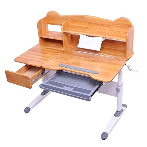 Tolalo Juego de mesa y silla para niños, altura ajustable, mesa de estudio con estante y cajón integrado, juego de mesa y silla para niños, mesa inclinable y silla de estudio para niños