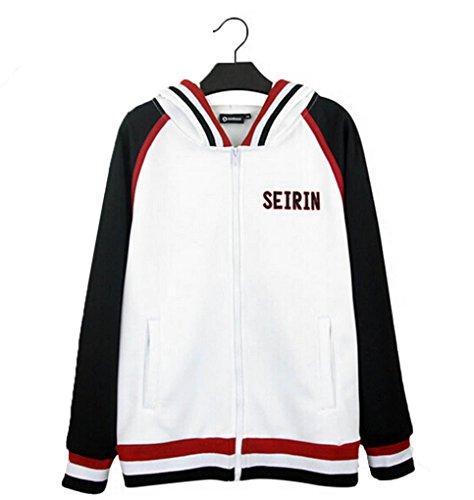 HOLRAN Kuroko no Basket Tetsuya Kuroko Cotton Thin Jacket Hoodie (Medium) White
