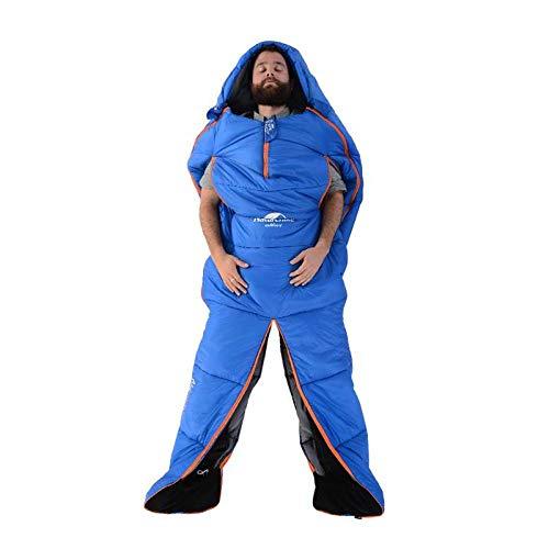 DADZSD 10 Grados al Aire Libre diseño de Forma Humana Saco de Dormir de una Sola Momia Sacos de Dormir de algodón Puede empalmar Sentarse Caminar para Viajar Acampar-L Naranja