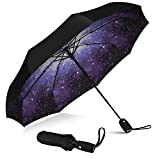 repel umbrella windproof travel umbrella with teflon coating (starry night)