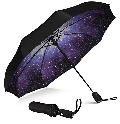 Repel Umbrella Windproof Travel Umbrella with Teflon Coating (Starry Night)