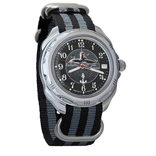 Vostok Komandirskie Submarine Capitán Reloj de pulsera mecánico para hombre #211831