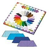 CreativaMente - Cartes prédécoupées et avec Guides de Pliage pour réaliser des Lignes 3D, Couleur, Bleu Clair, Bleu de Russe, Violet, 872