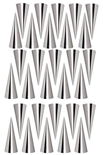 Moules Crème Pâtissière en Acier Inoxydable, FantasyDay Lot de 30 Moules Cannoli Moule Pain Tube Croissant Fabrication - Accessoire Traditionnel dans Cuisine pour Spirale Croissants Corne Gâteau Moule