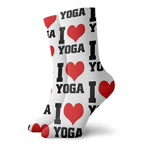 I Love YOGA - Calcetines para mujer, 30 cm