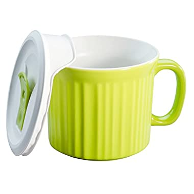 Corningware 20-Ounce Oven Safe Meal Mug with Vented Lid, Sprout