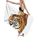 jhgfd7523 China Tiger Tiger Bálsamo siberiano Tiger Painti Tigre Toalla de playa Toalla de baño Set de baño Toallas de baño Accesorios Toalla de piscina Viaje y toalla de baño 80 cm x 130 cm