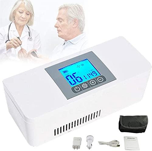 XnalLKJ Refrigerador De Insulina, Mini Nevera, Refrigerador Médico De 2-8 ° C, Nevera para Acampar, Insulina Refrigerada/Interferón/Hormona De Crecimiento/Vacuna/Gotas para Los Ojos