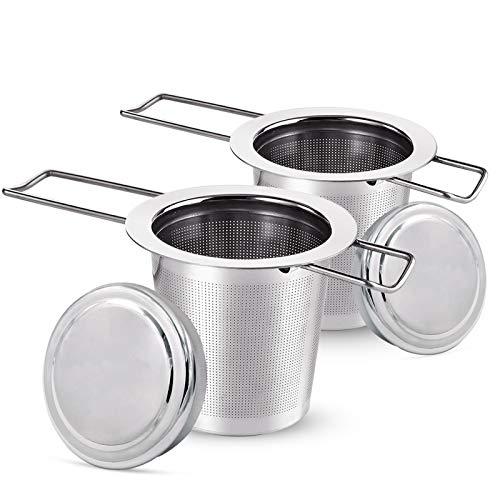 Teesieb Teefilter, Tee-Sieb für losen Tee, Faltbare Griffgestaltung Passend für die Meisten Tee-Tassen