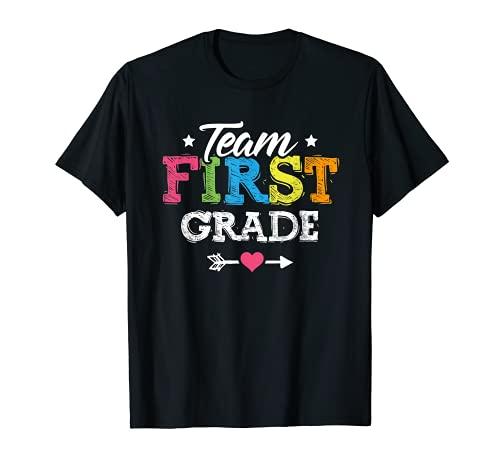 Team First Grade Shirt Teacher Student Back To School Kids T-Shirt