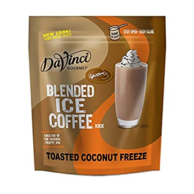 DaVinci Gourmet Toasted Coconut Freeze Blended Iced Coffee Mix, 2.75 Pound (Pack of 1)