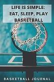LIFE IS SIMPLE: EAT, SLEEP, PLAY BASKETBALL: A 6X9 100 page basketball journal to help you become...