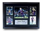HWC Trading Lionel Messi A3 Enmarcado Regalo De Visualización De Fotos De Impresión De Imagen Impres...