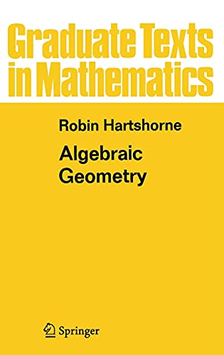 Algebraic Geometry: 52