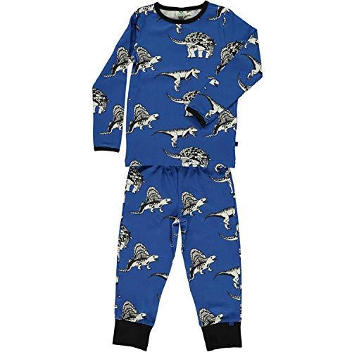 Smafolk Kinder Pyjama Schlafanzug blau Allover Dino Print 2-8 Jahre, Größe: 2-3 Jahre