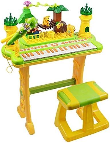 LINGLING-Tastatur Kinder Elektronisches Klavier Baby Klavier Spielzeug Klavier 1-3-6 Jahre Alt Anf er Weißachten Geburtstagsgeschenk (Farbe   Gelb)