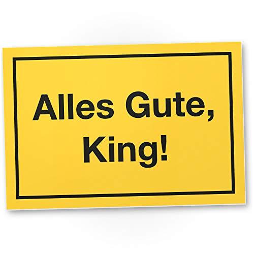DankeDir! Alles Gute King - 30 x 20 cm Kunststoff Schild lustig - Geburtstagsdeko Geschenkidee Partydeko Geburtstagskarte - Geschenk Männer Freund Geburtstag Geburtstagsgeschenk Kumpels
